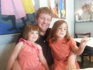 My lovely husband and the girls he is raising.